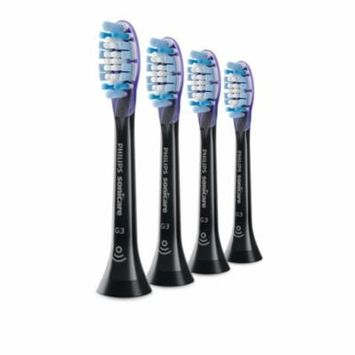 Philips Sonicare Premium Gum Care replacement toothbrush heads, HX9054/95, BrushSync technology, Black 4-pk