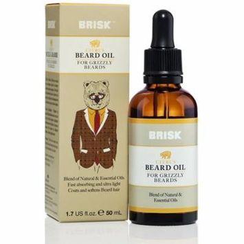 3 Pack - Brisk Beard Oil, Citrus 1.7 oz
