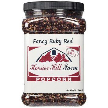 Hoosier Hill Farm Ruby Red, Popcorn Lovers 4 lb. Jar.