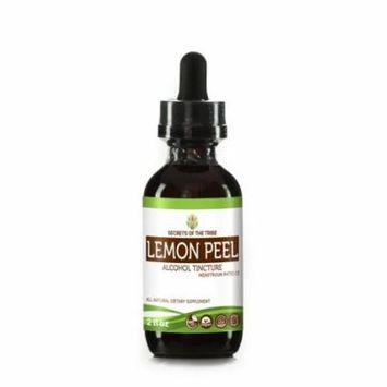Lemon Peel Tincture Alcohol Extract, Organic Lemon Peel (Citrus x limon) Dried Peel 2 oz