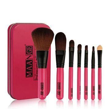 Hatop Makeup Brushes, 7Pc Makeup Brushes Set Powder Foundation Eyeshadow Eyeliner Lip Cosmetic Brush With a Box