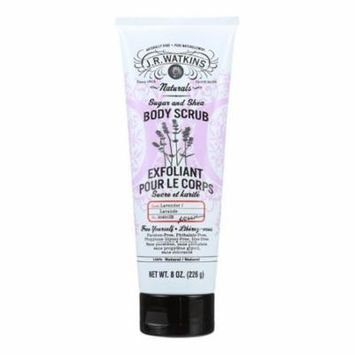 J.r. Watkins Body Scrub - 100 Percent Natural - Exfoliating - Sugar And Shea - Lavender - 8 Oz
