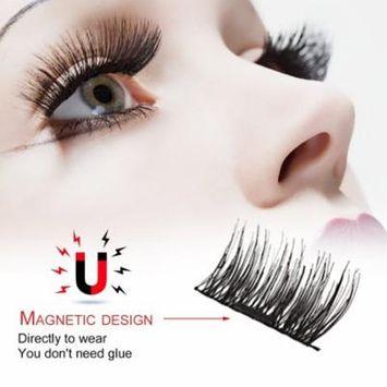 3D Magnetic Eyelash Glue Free Eyelashes 4 Pieces Recycle DIY False Eyelashes