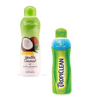 Tropiclean Hypo Allergenic Gentle Coconut Puppy & Kitten Shampoo with Tropiclean Hypo Allergenic White Coat Pet Shampoo