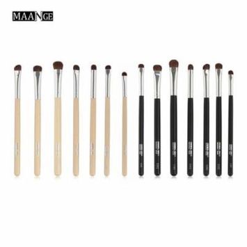 7pcs/set Professional Makeup Brushes Horse Hair Eye Shadow Face Outline Cosmetic Foundation Eyebrow Brush Make Up Kit
