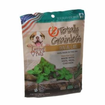 Loving Pets Totally Grainless Dental Care Chews - Fresh Breath Mint Toy/Small Dogs - 6 oz - (Dogs up to 15 lbs) - Pack of 2