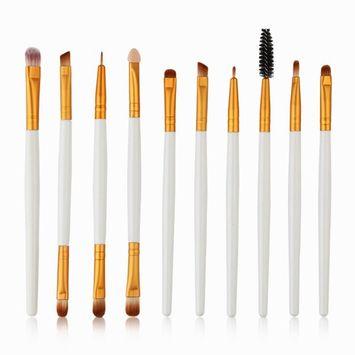 Start 10 pcs/Sets Makeup Brush Set for Eye Shadow Foundation Eyebrow Lip