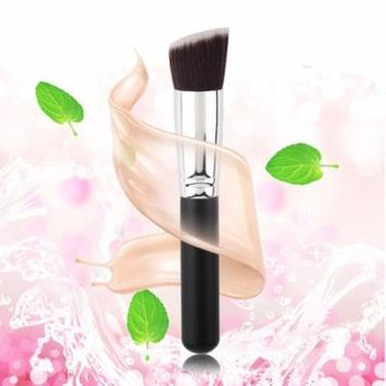 New Flat Angled Powder Foundation Makeup Cosmetic Face Fiber Brush Tool