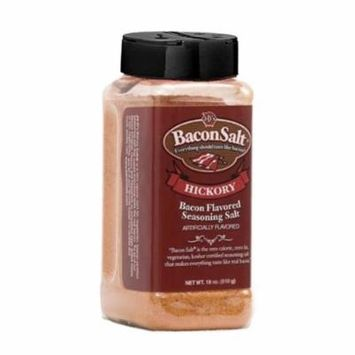 J&D's Big Pig Hickory Bacon Salt (16 Ounce Bottle) - Jumbo Low Sodium Bacon Flavored Seasoning Salt