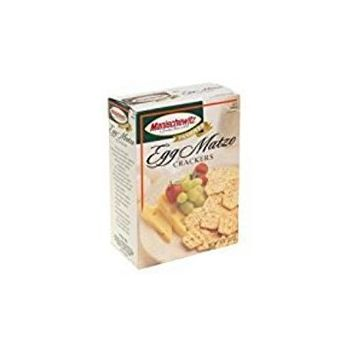Manischewitz Egg Matzo Crackers Kosher For Passover 8 oz. Pack of 1.