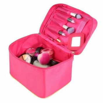 Portable Travel Foldable Cosmetic Case Makeup Bag Toiletry Storage Organizer MSARTS