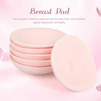 HURRISE 6pcs Washable Reusable Soft Cotton Breast Pads Absorbent Breastfeeding Nursing Pad, Nursing Pad, Washable Nursing Pad