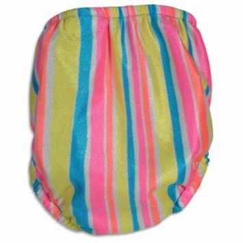 My Pool Pal - Baby Girls Striped Reusable Swim Diaper MULTICOLOURED / Large
