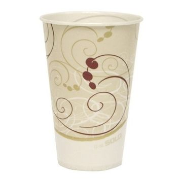 Solo R12N-J8000 12 oz Symphany Waxed Paper Cold Cup (Case of 2000)