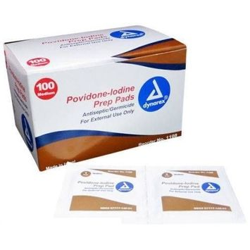 Povidone-Iodine Prep Pads By Dynarex, 4 Boxes 400 Count MS-60570