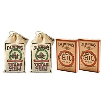D. L. Jardines Texas Chili Works 3 oz & Jardines Texas Chili Bag O Fixins Kit, 4 Ounces (2 of each, Pack of 4)