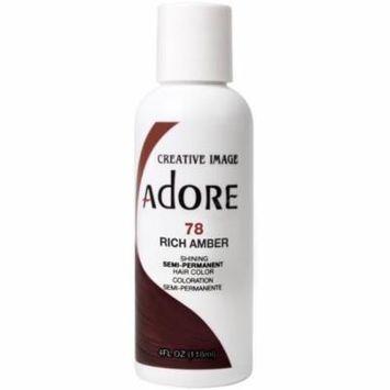 3 Pack - Adore Semi-Permanent Haircolor, Rich Amber 4 oz