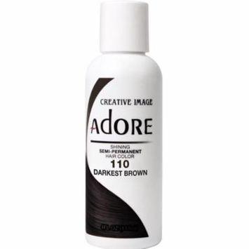 3 Pack - Adore Semi-Permanent Haircolor, Darkest Brown 4 oz