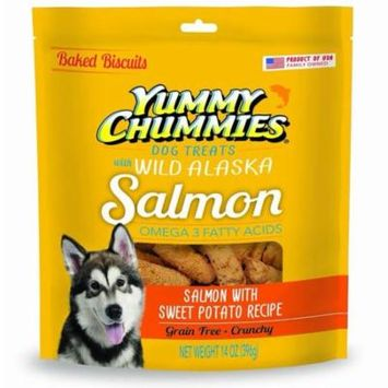 Yummy Chummies Dog Biscuits Treats Real Alaskan Seafood 100% Grain Free, Excluisve From Alaska Made in USA