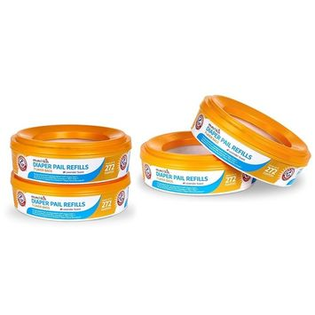Munchkin Arm and Hammer Diaper Pail Refill Rings, 1088 Count