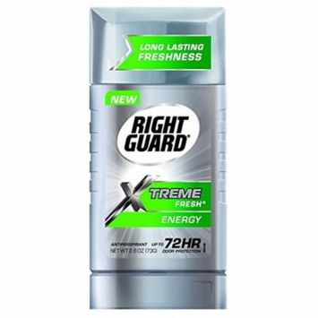 Right Guard Xtreme Fresh 2.6 Ounce Energy Solid (76ml) (2 Pack)