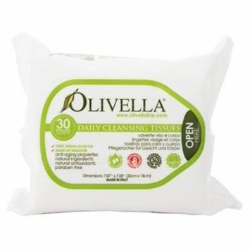 Daily Facial Cleansing Tissues - 30 Tissue(s) by Olivella (pack of 2)