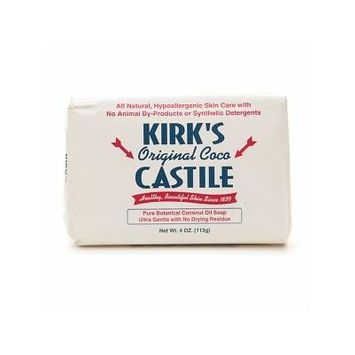 Kirk's Castile: Coco Castile Bar Soap, Original 4 oz (2 pack)