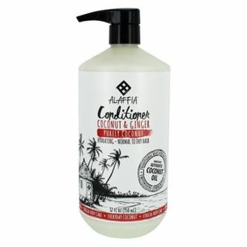 Hydrating Conditioner with Coconut & Ginger for Normal to Dry Hair Purely Coconut Scent - 32 fl. oz. by Alaffia (pack of 3)