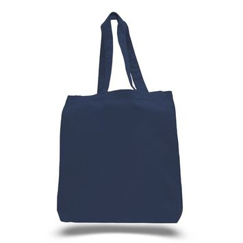 TBF - (3 Pack) Set of 3 High Quality Cotton Tote Bags Wholesale with Bottom Gusset (Navy) [name: actual_color value: actual_color-navy]
