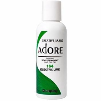 3 Pack - Adore Semi-Permanent Haircolor, Electric Lime 4 oz