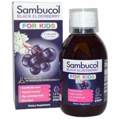 Sambucol, Black Elderberry, For Kids Syrup, Berry Flavor, 7.8 fl oz (230 ml)(Pack of 3)