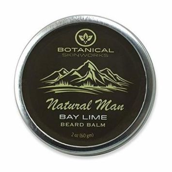 Natural Man Bay Lime Beard Balm - All Natural Beard Conditioner by Botanical Skinworks, 2 Ounce