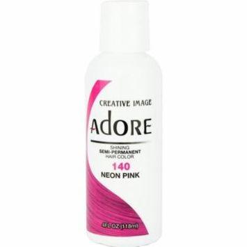 2 Pack - Adore Semi-Permanent Haircolor, Neon Pink 4 oz