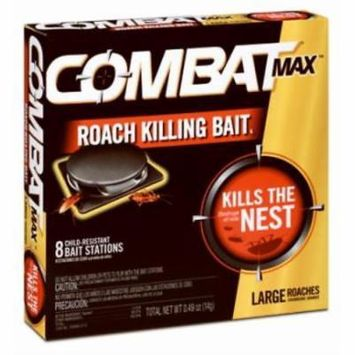 8 Count Combat Superbait Roach Bait For Large Roaches 2PK