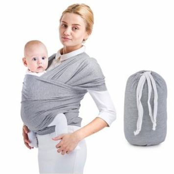 Baby Wraps Breathable Cotton Stretch Baby Wrap Carrier Baby Sling for Baby Infant Toddler