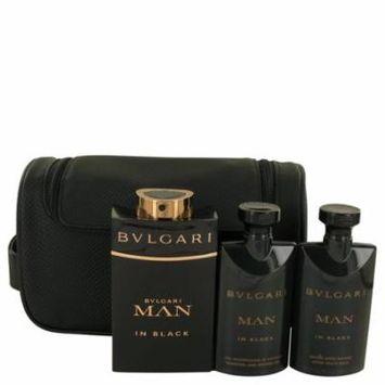 Bvlgari Men Gift Set -- 3.4 Oz Eau De Parfum Spray + 2.5 Oz After Shave Balm +2.5 Oz Shower Gel + Free Pouch