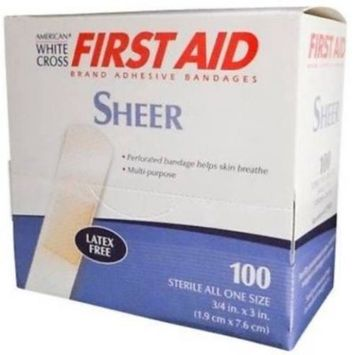 Band-Aid Brand Adhesive Bandages Sheer, All One Size, 200 ct