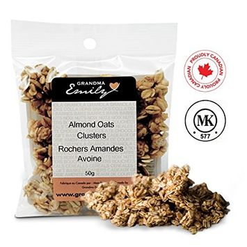 Grandma Emily Granola Clusters Made with Rolled Oats Puffed Rice and Almonds Mini Snack Pack 1.76 oz (4 Pack)