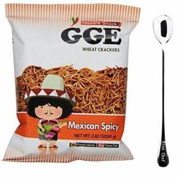 Wei Lih Good Good Eat Japanese Ramen Noodle Wheat Crackers Spicy Flavor (2 Bag) + One NineChef Spoon