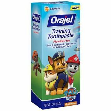 Orajel Toddler Training Toothpaste Tooty Fruity 1.5 oz.(pack of 12)
