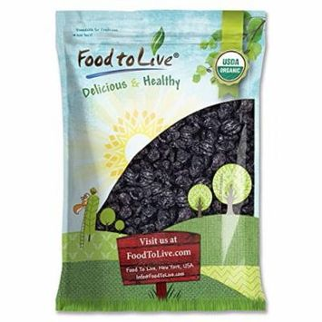 Organic Pitted Prunes, 5 Pounds - Kosher, Vegan, Non-GMO, Unsulfured, Unsweetened, Bulk - by Food to Live