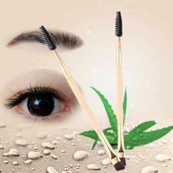 Makeup Brush Fine bamboo handle Makeup tools double eyebrow brush Eyelash brush