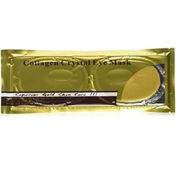 24 Karat Gold Face Facial Eye Mask, Look Younger and Rejuvenated In Minutes, Intense Hydration, Collagen, and Peptides Energize Skin While Reducing Fine Lines and Wrinkles