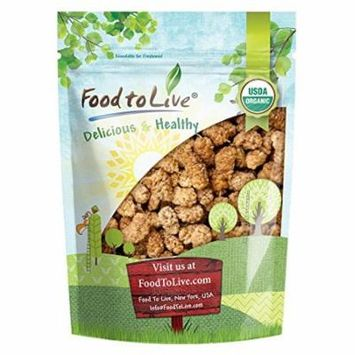 Food to Live Certified Organic Dried White Mulberries (Non-GMO, Unsulfured, Bulk) (1 Pound)