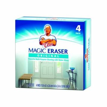 Procter & Gamble Mr. Clean Regular Magic Erasing Pad 4 Pads Per Box, 1 Box