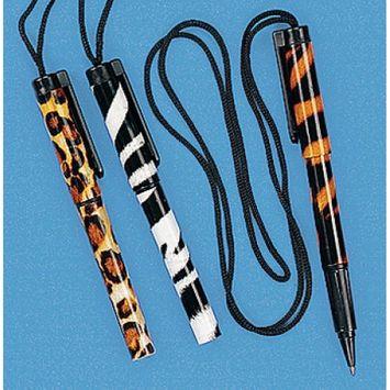 Safari Pen on a Rope (1 dz) - Fun Express - 8/146