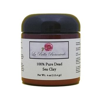 Dead Sea Clay Powder, 4 Oz (440 Gram) For Use In Dead Sea Mud Masks, Exfoliating Body Scrub, Deep Cleansing - Mineral Rich - Dead Skin Remover - La Bella Botanicals