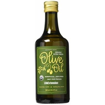 Life Extension California Estate Organic Extra Virgin Olive Oil, 500 Ml