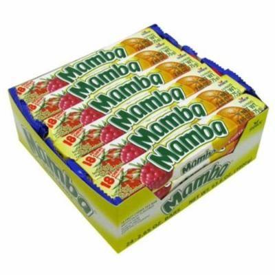 4 Pack - Mamba Variety 18 Fruit Chews 24 pack (2.65 oz per pack)