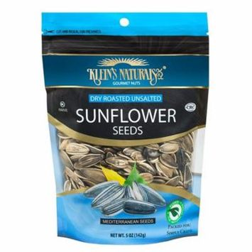 Kleins Naturals Dry Roasted Unslated sunflower Seeds, 5-Ounce